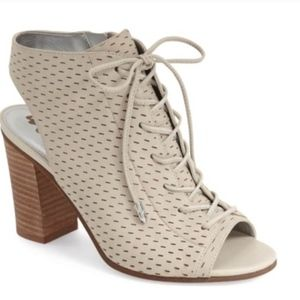 Sam Edelman Bone Leather Ennette Laceup booties